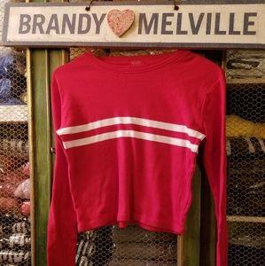 New brandy melville  red stripe tee